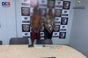 Policiais militares detêm dois homens com drogas na zona Oeste