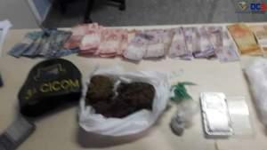 Policiais militares detêm dupla com drogas no Japiim