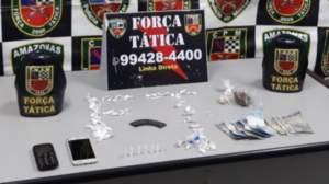 Policiais militares detêm suspeito com drogas na zona Norte