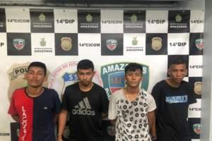 Quatro homens são presos por assalto a motorista de aplicativo