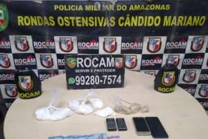 Rocam detêm dois suspeitos de tráfico de drogas na zona Leste