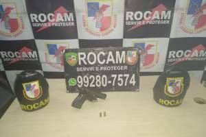 Rocam detém homem por porte ilegal de arma de fogo no Santa Etelvina