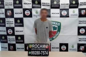 Rocam detêm jovem por porte ilegal de arma e drogas no zona Norte