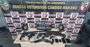 Rocam detêm seis suspeitos com armas de fogo no bairro Tarumã