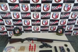 Rocam detêm suspeito com arma de fogo durante a Operação Solimum