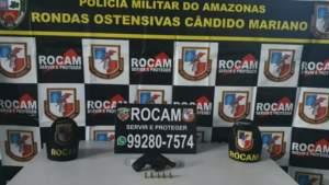 Rocam detêm suspeito com arma de fogo na zona Sul