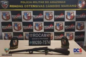 Rocam detêm suspeito de porte ilegal de arma de fogo na zona Norte