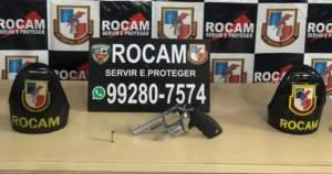 Rocam detêm suspeito de porte ilegal de arma de fogo na zona Sul