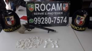 Rocam detêm suspeito de tráfico com arma de fogo em Iranduba
