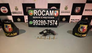 Rocam detém suspeitos com arma e drogas no bairro Alvorada