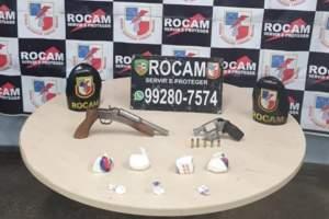 Rocam detém suspeitos com armas e drogas na zona Leste de Manaus