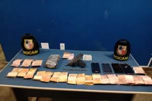 Rocam detêm suspeitos de roubo e tráfico de drogas em Tabatinga