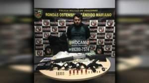 Rocam prende homem com armas e drogas na zona Centro-sul de Manaus