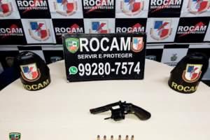 Rocam prende homem por porte ilegal de arma na zona Leste de Manaus