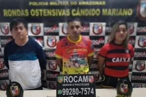 Rocam prende trio com armas e drogas no Mutirão em Manaus