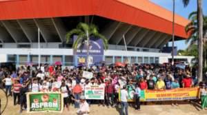 Servidores estaduais realizam carreata contra o governador Wilson Lima