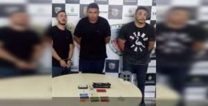 Trio é preso por roubo a veículos na zona Centro-sul de Manaus